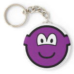 Colored buddy icon violet  keychains
