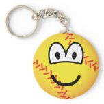 Baseball emoticon   keychains