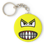 Angry smile   keychains