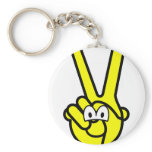 Peace sign buddy icon   keychains