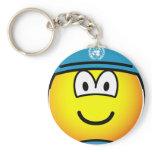 UN soldier emoticon   keychains