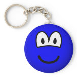 Colored emoticon blue  keychains