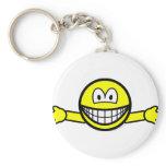 Hug smile   keychains