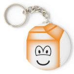 Milk carton emoticon   keychains