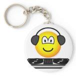 DJ emoticon   keychains