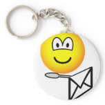 Letter opening emoticon   keychains