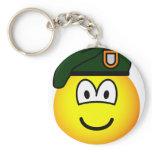 Green beret emoticon   keychains