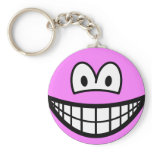 Colored smile pink  keychains