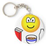 Breakfast emoticon cereal  keychains