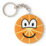 Orange emoticon   keychains