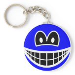 Inverted smile Negative colors  keychains
