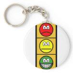 Traffic light smile happy - neutral - sad  keychains