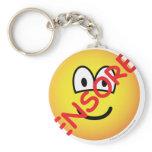 Censored emoticon   keychains