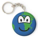 Earth emoticon   keychains