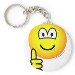 Duim omhoog emoticon   keychains