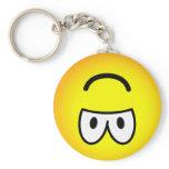 Upside down emoticon   keychains
