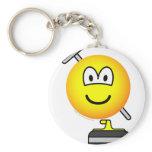 Curling emoticon   keychains