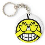 Peek-a-boo smile   keychains