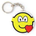 Love heart buddy icon   keychains
