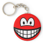 Colored smile red  keychains
