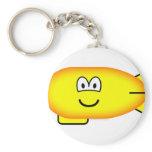 Zeppelin emoticon   keychains