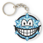 Snowflake smile   keychains