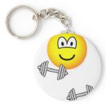 Dumbbells emoticon Free weight training  keychains