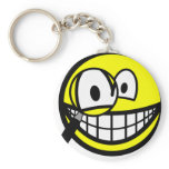 Magnifying glass smile Looking through  keychains