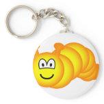 Caterpillar emoticon   keychains