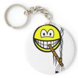 Peacepipe smile   keychains