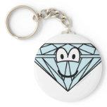Diamond emoticon   keychains