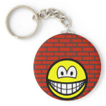 Against the wall smile   keychains