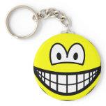 Octagon smile   keychains