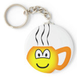 Cup emoticon Hot  keychains