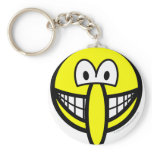 Big nosed smile   keychains