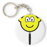 Magnifying glass buddy icon   keychains