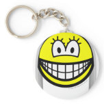 Gray haired smile   keychains