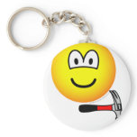 Hammer and nail emoticon   keychains