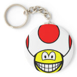 Toad smile video game  keychains