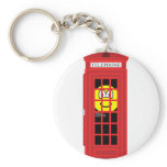Phone box buddy icon classic red  keychains