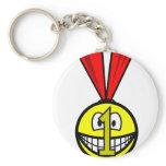 Medal smile   keychains
