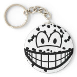 Dalmation smile   keychains