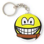 Brown belt smile   keychains