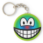 Psychedelic smile   keychains