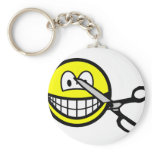 Cut smile scissors  keychains