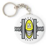 Stressed smile Under pressure  keychains