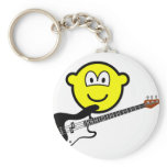 Bass playing buddy icon   keychains