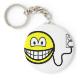 Plugged in smile   keychains