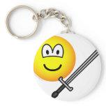 Sword fighter emoticon   keychains