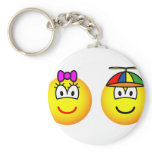 Brother and sister emoticon   keychains